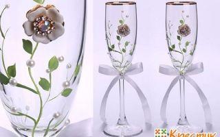 Украшение бокалов: как украсить для напитков, как приклеить кружево и стразы