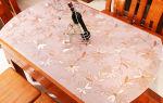Прозрачная скатерть «мягкое стекло»: свойства, состав, размеры, формы, плюсы и минусы