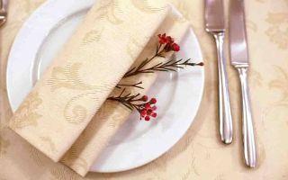 Тканевые салфетки: как интересно оформить праздничный стол?