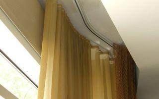 Потолочные и настенные, подвесные гардины: размеры, крепление