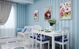 Голубые шторы: применение в интерьере гостиной, спальни, зала