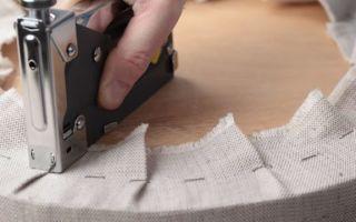 Перетяжка кухонного уголка своими руками: пошаговая инструкция