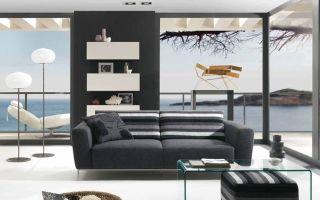 Мебель в стиле минимализм в интерьере гостиной, спальни, кухни