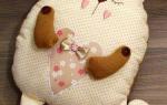 Очаровательные подушки коты своими руками: выкройки и примеры