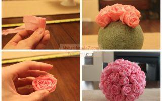 Как сделать розу из салфетки своими руками: пошаговая инструкция изготовления