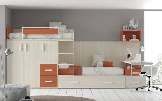 Как выбрать двухъярусную кровать со столом: виды моделей, советы
