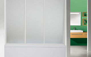 Шторка для ванной из стекла вместо занавески: раздвижные стеклянные занавеси