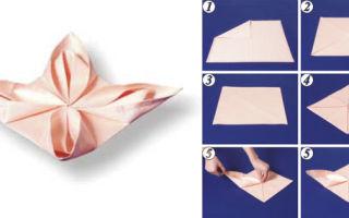 Способы складывания салфеток для сервировки стола: как красиво складывать, виды и варианты, схемы