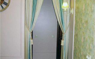 Шторы на дверной проем: оформление, занавеси из бамбука, как сделать своими руками