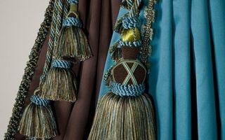 Кисти для штор: декоративные подхваты кисточки, описание, фото в интерьере