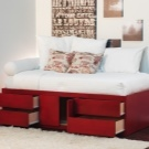 Кровати односпальные с ящиками: преимущества и недостатки