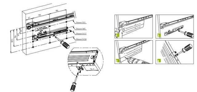 Какой выдвижной механизм выбрать для ящика? Виды направляющих