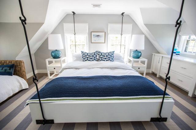 Подвесная кровать: какие бывают и как использовать в интерьере?