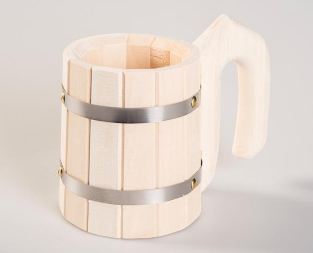 Деревянная кружка для чая и пива: финская кукса, дубовые чашки