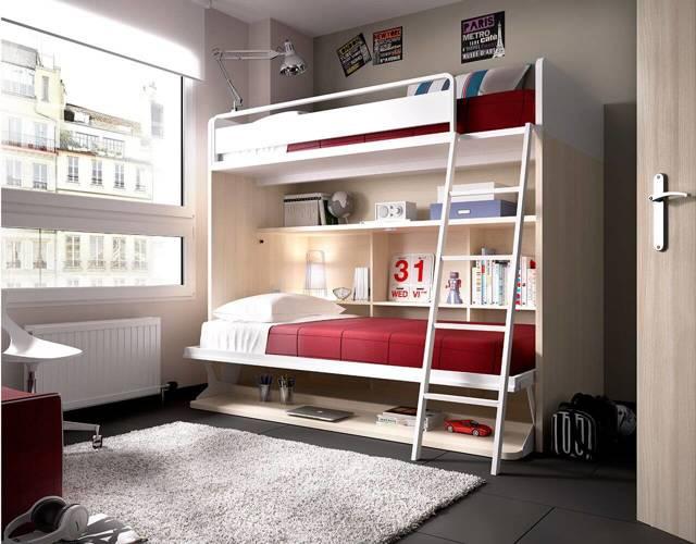 Двухъярусная кровать в детской комнате: выбор дизайна в 75 фото