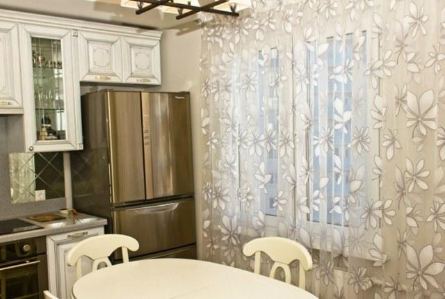 Шторы и тюль лапша: описание, занавески в интерьере кухни, примеры и фото