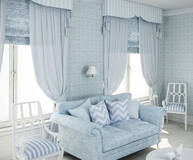 Оформление окон шторами: современный дизайн, шторы в гостиной, фото