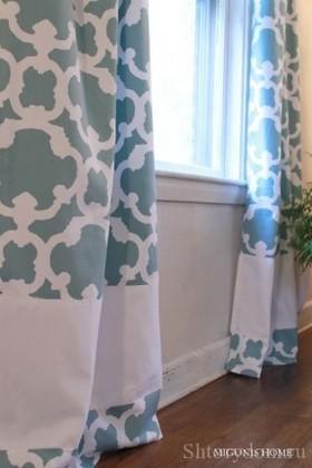 Как удлинить шторы снизу: как надставить штору если ткань с рисунком, способы