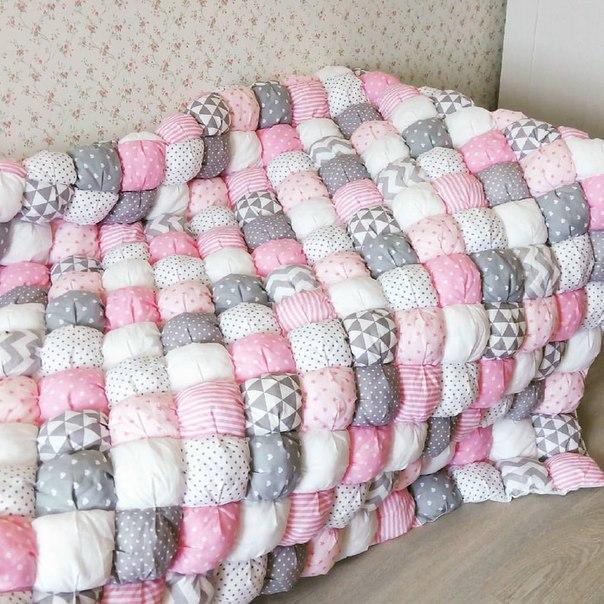 Детское одеяло своими руками: лоскутное, бонбон, вязаное