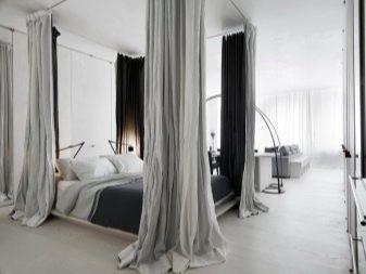 Зонирование комнаты шторами: разделить комнату шторами на спальню и гостиную