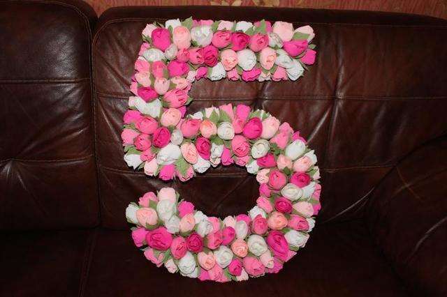 Цифры из салфеток: мастерим объемный символ 1,2,3,4,5,6,7,8,9 на день рождения