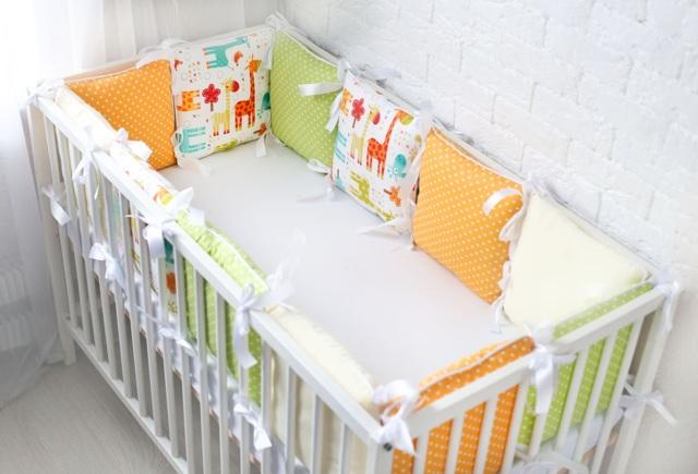Как сшить бортики-подушки в кроватку для новорожденных своими руками
