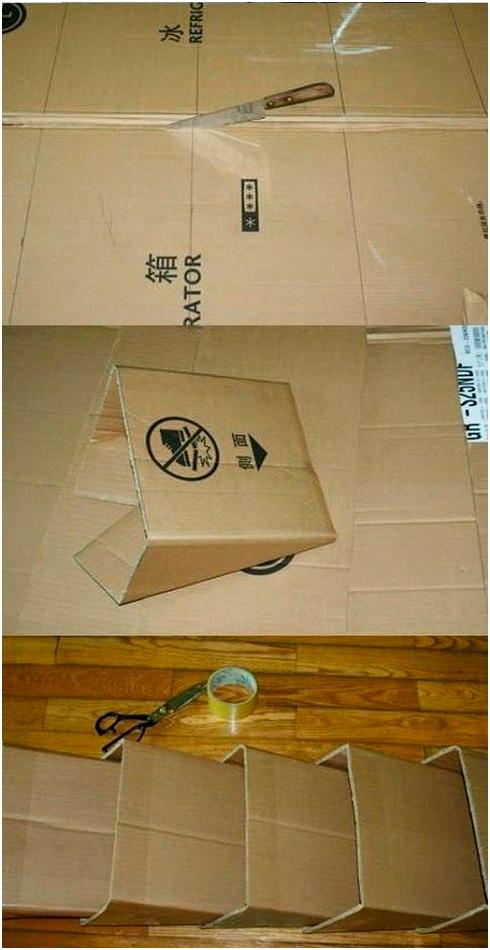 Делаем стеллаж из картона своими руками: пошаговая инструкция