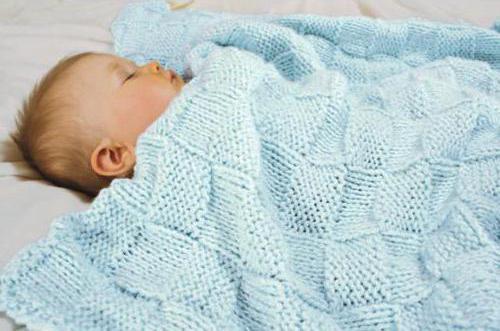 Детский плед спицами: ажурные, цветные, с узорами, 75 фото идей