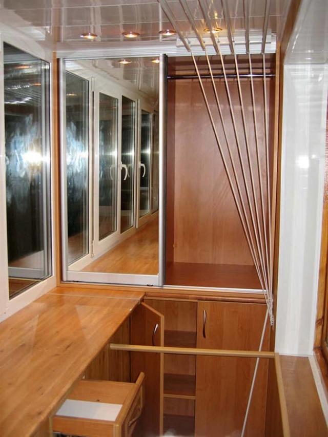 Шкаф на балконе: интересные идеи и полезные советы