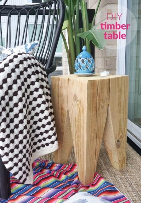 Прикроватный столик: 75 фото идей для создания своими руками