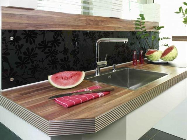 Как выбрать кухонную столешницу: материал и современный дизайн в 75 фото