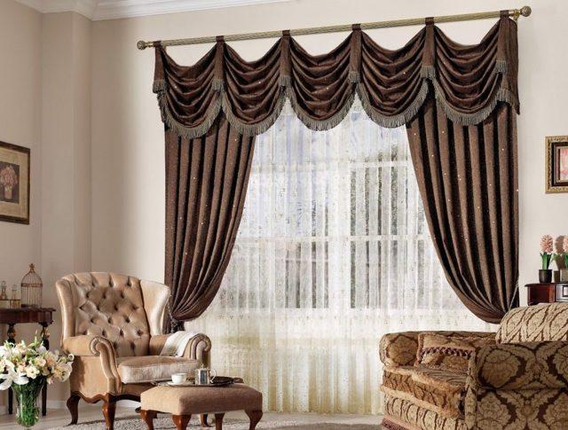 Модные шторы: новый дизайн занавесок и гардин, фото в интерьере спальни, зала