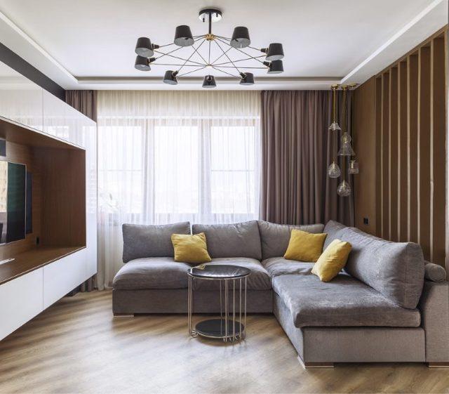 Серый диван в интерьере: 75 фото-идей современного дизайна