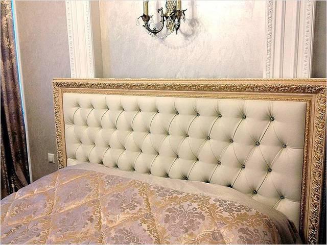 Изголовье кровати с каретной стяжкой своими руками: советы и фото