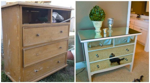 Декупаж мебели салфетками своими руками: декорирование стола, старого шкафа