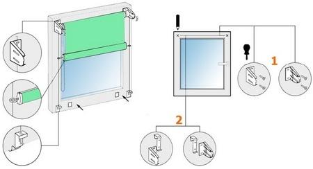Установка рулонных штор: советы и правила монтажа своими руками