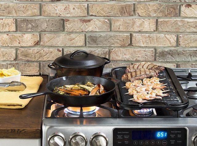 Американская сковорода lodge: чугунные сковороды-гриль, квадратная lodge skillet, круглая посуда