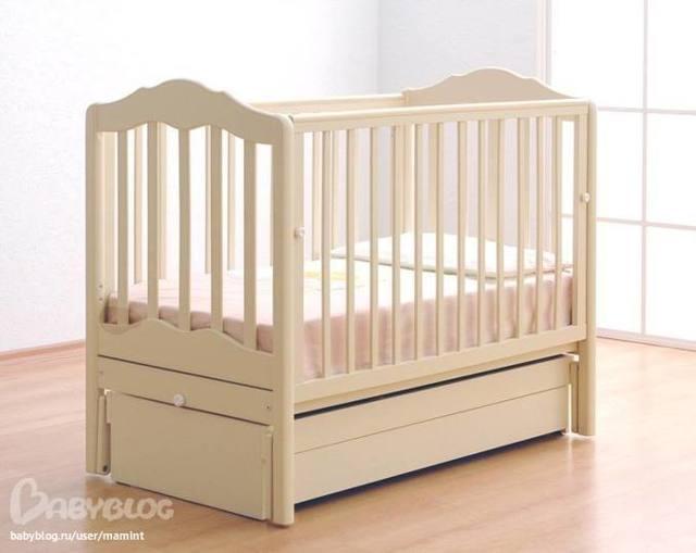 Детские кроватки-маятники с ящиком для вещей. Обзор моделей.