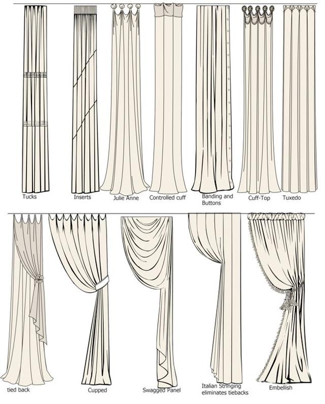 Драпировка штор: варианты оформления, как задрапировать своими руками