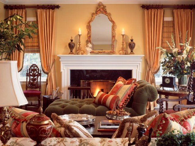 Кресло в английском стиле: уютная деталь в интерьере гостиной