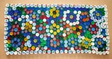 Как сделать массажный коврик из крышек от пластиковых бутылок пошагово