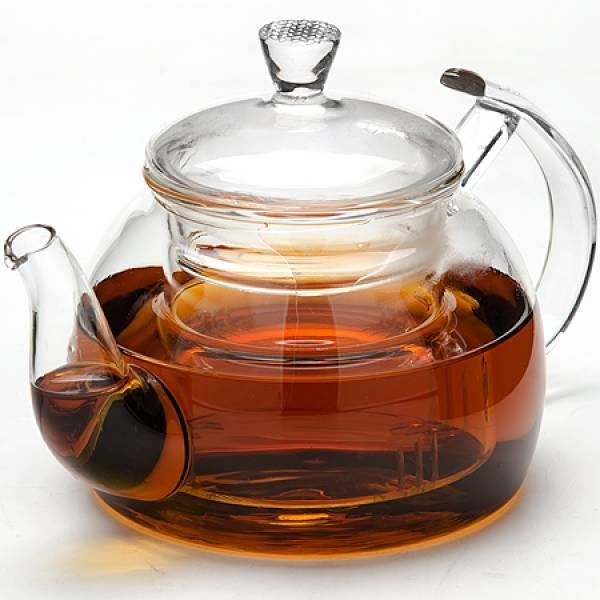 Заварочный стеклянный чайник: заварник из стекла с фильтром-пружинкой и подогревом, с колбой из стекла для заваривания чая