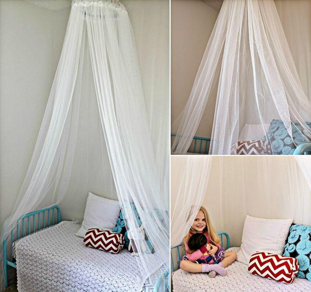 Занавеска для кровати: идеи балдахинов в спальне своими руками