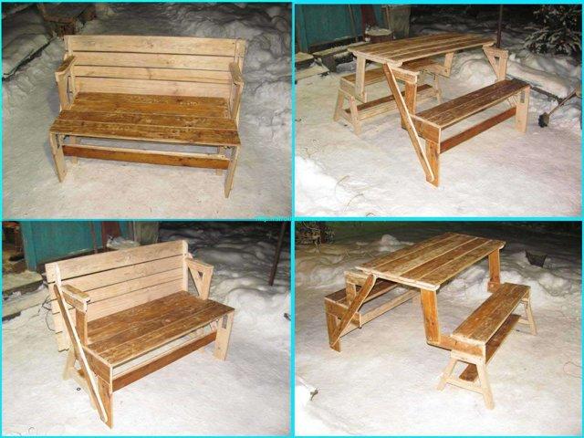 Делаем стол-скамейку трансформер своими руками: пошаговая инструкция