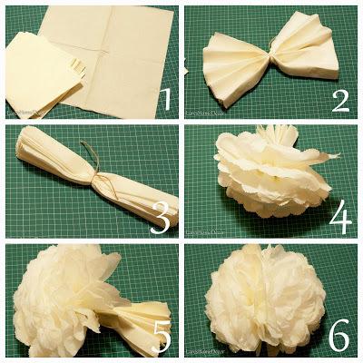 Помпоны из салфеток: как оформить интерьер своими руками