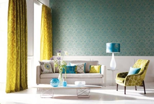 Комбинированные шторы из двух и более цветов: как сшить своими руками, фото