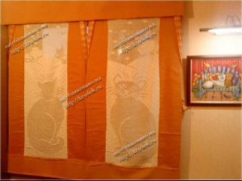 Вязаные шторы: как сделать занавески для кухни, вязание крючком и спицами