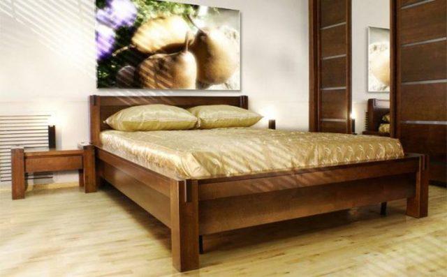Двуспальная кровать из массива дерева: преимущества и недостатки