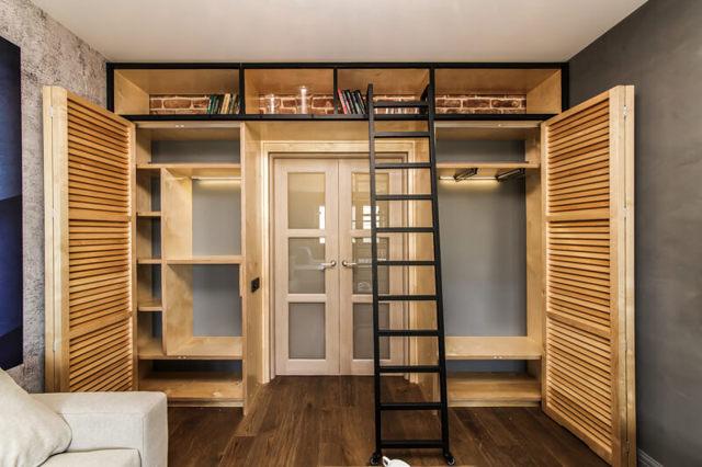 Шкаф-купе вокруг дверного проема: выбор дизайна в 75 фото