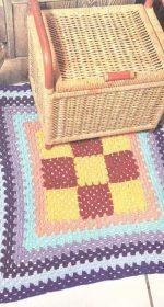 Как связать коврик крючком, красивые схемы и простые описания